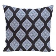 e by design Geometric Decorative Floor Pillow; Navy Blue/Light Blue