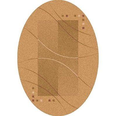 Milliken Pastiche Caliente Flaxen Contemporary Oval Rug; Oval 7'8'' x 10'9''