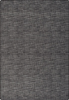 Milliken Imagine Broadcloth Black Linen Area Rug; Rectangle 7'8'' x 10'9''