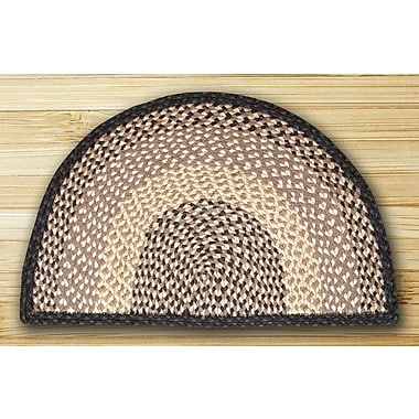 EarthRugs Braided Chocolate/Natural Area Rug; Slice 1'6'' x 2'5''