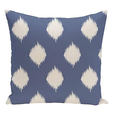 e by design Geometric Decorative Floor Pillow; Slate Blue/Off White