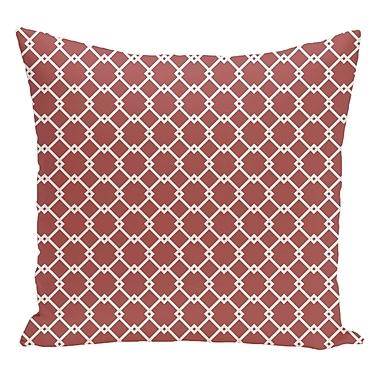 e by design Geometric Decorative Floor Pillow; Orange