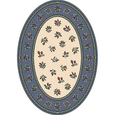 Milliken Signature Francesca Lapis Oval Rug; Oval 3'10'' x 5'4''