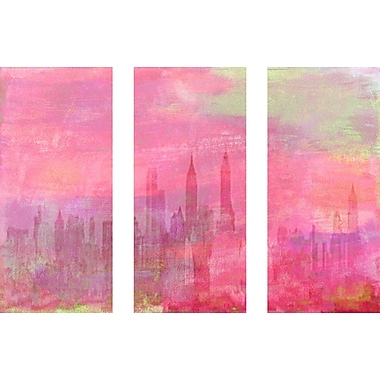 Marmont HIll 'In The Moment Triptych' Painting Print on Wrapped Canvas; 30'' H x 45'' W