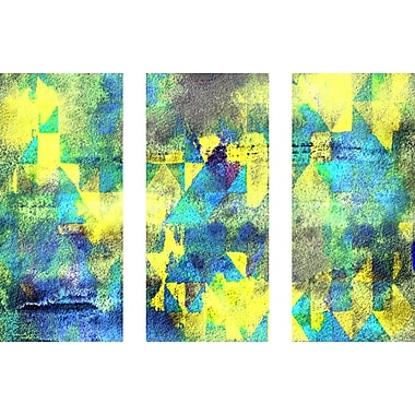 Marmont HIll 'Eastern Glow Triptych' Painting Print on Wrapped Canvas; 30'' H x 45'' W