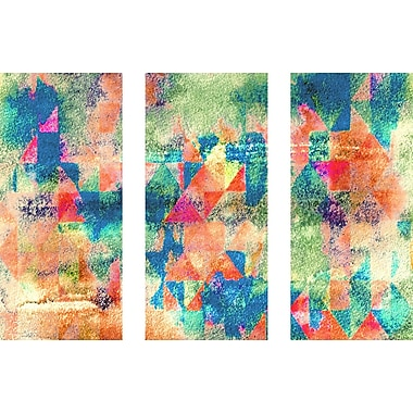 Marmont HIll 'Mix Mash Triptych' Painting Print on Wrapped Canvas; 30'' H x 45'' W x 1.5'' D