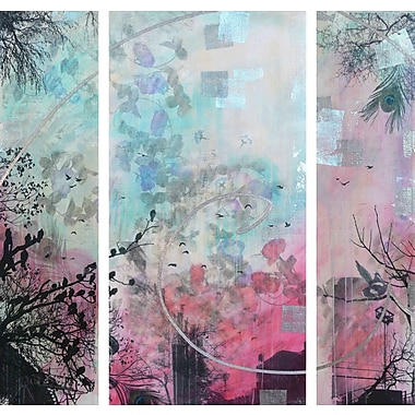 Marmont HIll 'Infinitus 3-Piece Set' by Tracy Silva Barbosa Painting Print on Wrapped Canvas