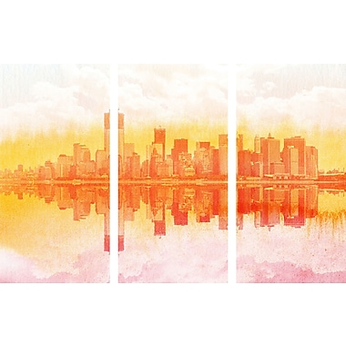 Marmont HIll 'New York New York Triptych' Painting Print on Wrapped Canvas; 30'' H x 45'' W