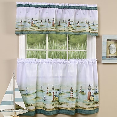 Achim Importing Co Hamptons 58'' Valance and Tier Set; 36'' H x 58'' W x 2'' D