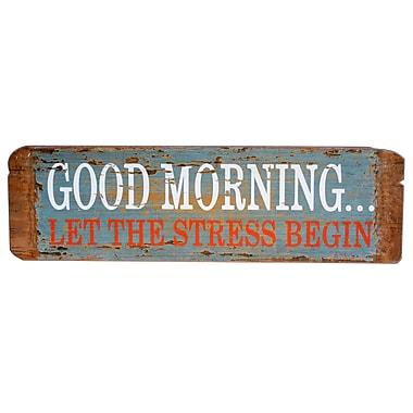 American Mercantile Wood Sign 'Good Morning' Textual Art