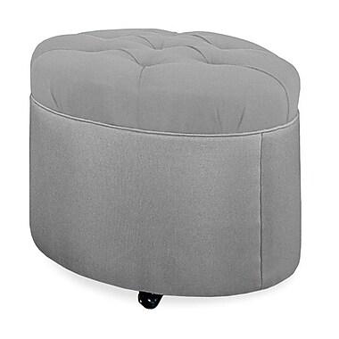 Tory Furniture Mondo 24'' Tufted Round Ottoman; Pewter
