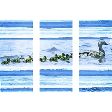 Marmont HIll 'Ducks On A Swim Triptych' Painting Print on Wrapped Canvas; 40'' H x 60'' W