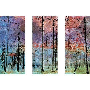 Marmont HIll 'Lost In The Forest Triptych' Painting Print on Wrapped Canvas; 24'' H x 36'' W
