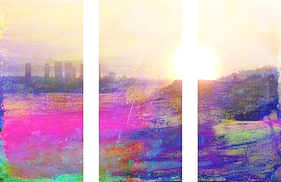 Marmont HIll 'The View Triptych' Painting Print on Wrapped Canvas; 30'' H x 45'' W