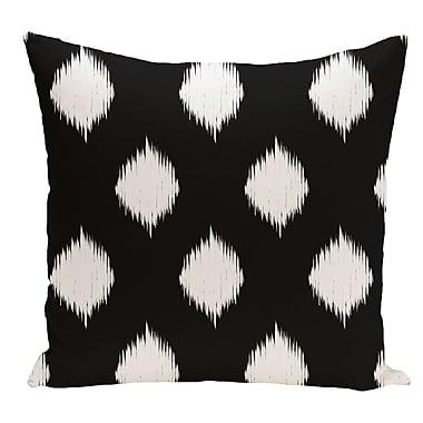 e by design Geometric Decorative Floor Pillow; Black
