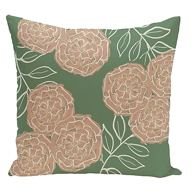 e by design Floral Decorative Floor Pillow; Green/Brown