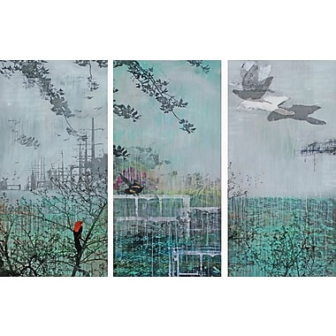 Marmont HIll 'Meta Strata 3-Piece Set' by Tracy Silva Barbosa Painting Print on Wrapped Canvas