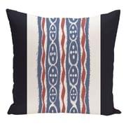 e by design Stripe Decorative Floor Pillow; Blue