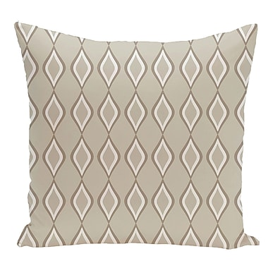 e by design Geometric Decorative Floor Pillow; Off White/Brown