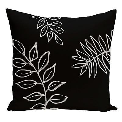 e by design Floral Decorative Floor Pillow; Black/Gray