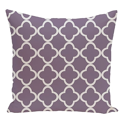 e by design Geometric Decorative Floor Pillow; Purple/Gray