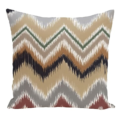 e by design Chevron Decorative Floor Pillow; Earth