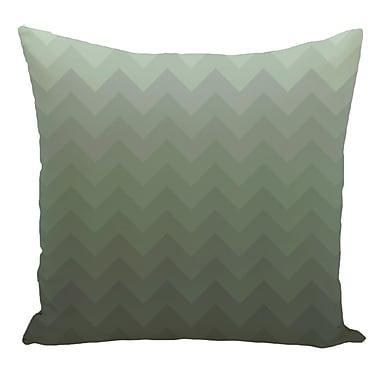 e by design Chevron Decorative Floor Pillow; Green
