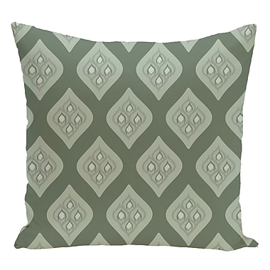 e by design Geometric Decorative Floor Pillow; Green