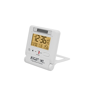 Marathon Travel Atomic Alarm Clock with 8 Time Zones and an Automatic Backlight