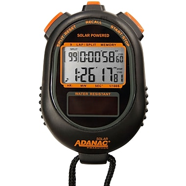 Marathon Dual Power Solar Stopwatch with Lap and Split Memory (ST083020)