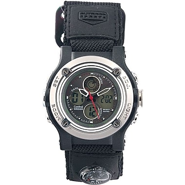 Cardinal 1927 Men's Ana-Digi Watch, Black Velcro/Nylon Strap