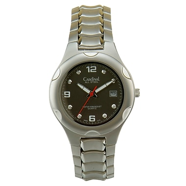 Cardinal 2884 Men's Analog Casual Watch, Steel Case and Bracelet