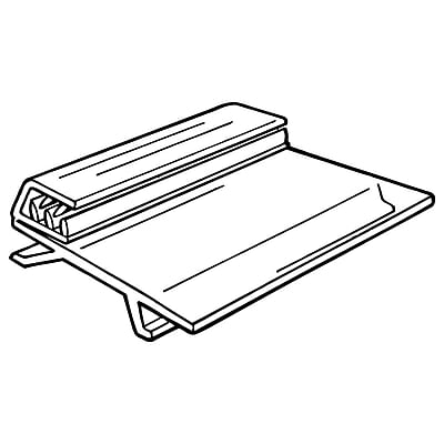 FFR Merchandising 107F SuperGrip® UPC Tag/Sign Holder with Hinge, 2-1/2
