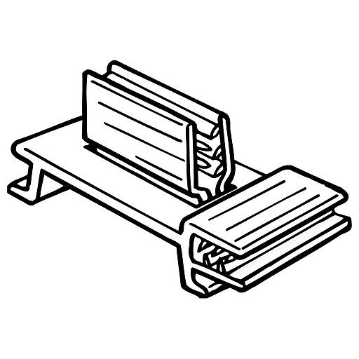 "FFR Merchandising 204 SuperGrip® Dual-Action Flag Sign Holder, 3/4""W x 1-5/8""H, 100/Pack (0210950701)"