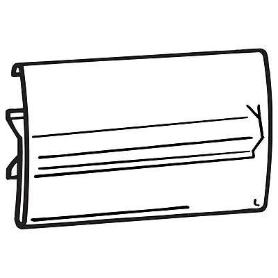 FFR Merchandising CS2020 Clear Covered-Face Sign Holder, Center Shelf Mount, 3 1/2