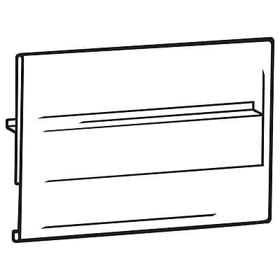 FFR Merchandising CS2020 Econo Covered-Face Sign Holder, Center Shelf Mount, 3 1/2