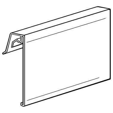 FFR Merchandising ? Porte-affiche à façade recouverte CFSW pour panier en métal, 3,5 x 5,5 po, 10/paquet (405266701)