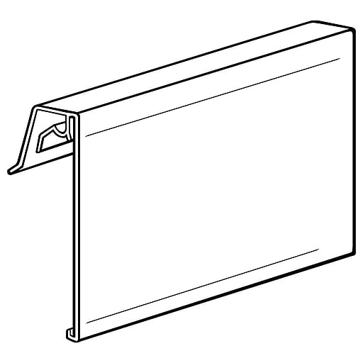 "FFR Merchandising CFSW Covered-Face Sign Holder for Wire, 3 1/2"" H x 5 1/2"" L, 10/Pack (0405266701)"