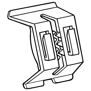 FFR Merchandising ? Porte-affiche à double fonction 2435 pour glissière de tablette, blanc, ABS, 250/pqt (507531602)