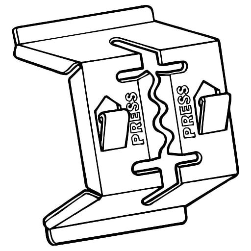 "FFR Merchandising 2495 Double-Duty™ Metal Shelf Channel Sign Holder, 1"" W, 100/Pack (0507973200)"