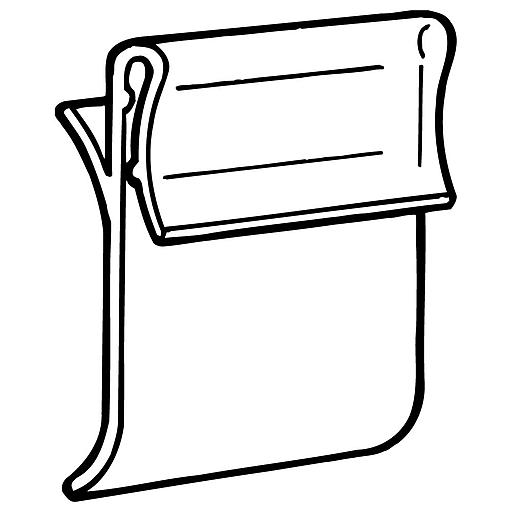"FFR Merchandising GCO Shelf Channel Sign Holder, 1 1/4"" L x 1 1/4"" H, 200/Pack (0601767800)"