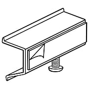"""FFR Merchandising Shelf Channel Adapter with Adhesive, 2-1/2""""L x 1-1/4""""H x 1""""D, 20/Pack (0606780802)"""