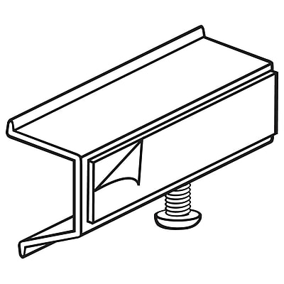 FFR Merchandising Shelf Channel Adapter with Adhesive, 2-1/2