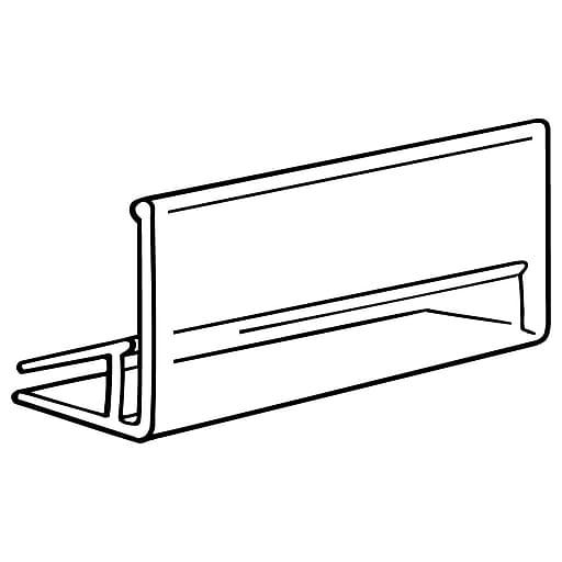 "FFR Merchandising THG121 Crystal Glass Shelf Ticket Holder 7/8"" H x 2"" L 125/Pack (1301794700)"