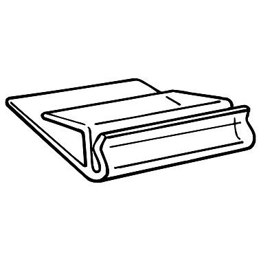 FFR Merchandising ? Porte-affiche MD-1 de tablette en verre de cristal, 1 po long., 100/paquet (1308169400)