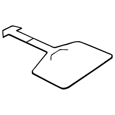 FFR Merchandising ? Porte-étiquette LH pour panier en treillis métallique, 1,5 haut. x 2,13 larg. (po), 225/paquet (1401756800)