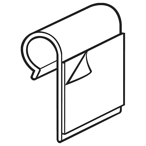 """FFR Merchandising J-Hook with Adhesive; 3/4"""" L x 1"""" H, 125/Pack (1402597601)"""