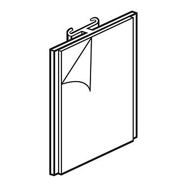 FFR Merchandising Flush Mount Adapter for Bracket System, 24/Pack (1503322301)