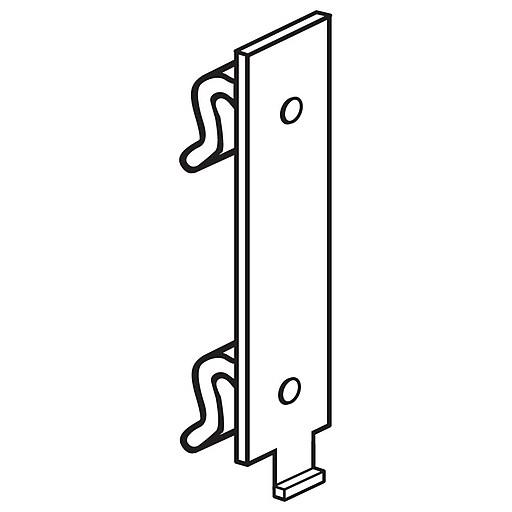 FFR Merchandising Warehouse Upright Bracket, Square Hole, 70/Pack (1506584201)