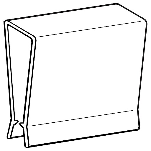 "FFR Merchandising Pallet Display Clip; 2"" H x 2"" L x 7/16"" D, 50/Pack (1508648200)"